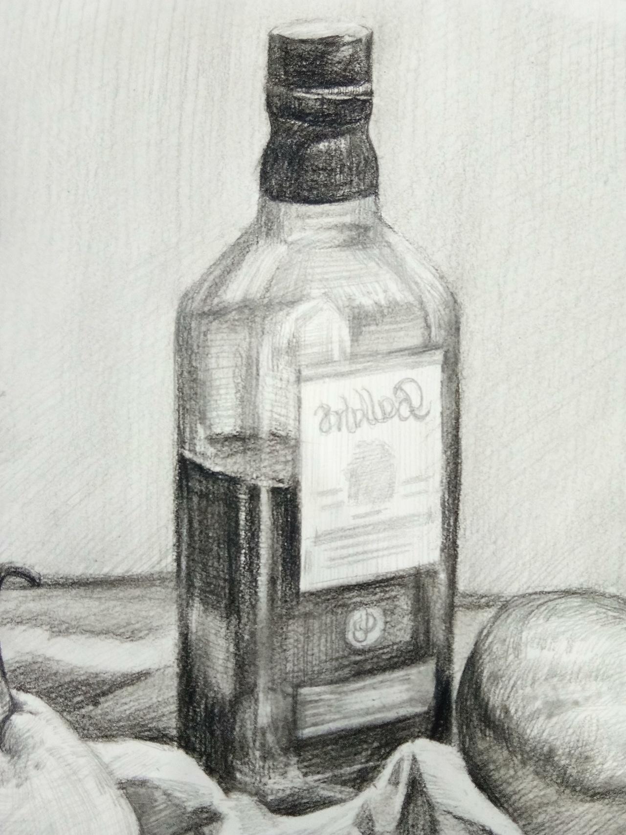 静物素描|纯艺术|素描|芳苹果 - 原创作品 - 站酷图片