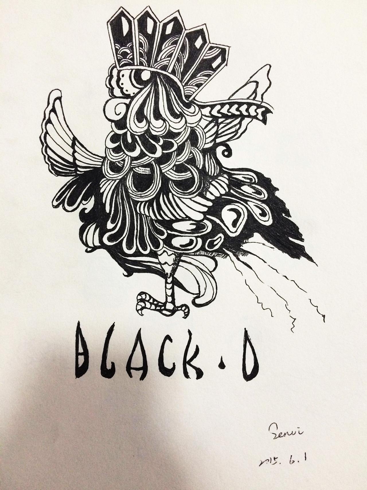 黑白手绘|插画|插画习作|senvi33 - 原创作品 - 站酷