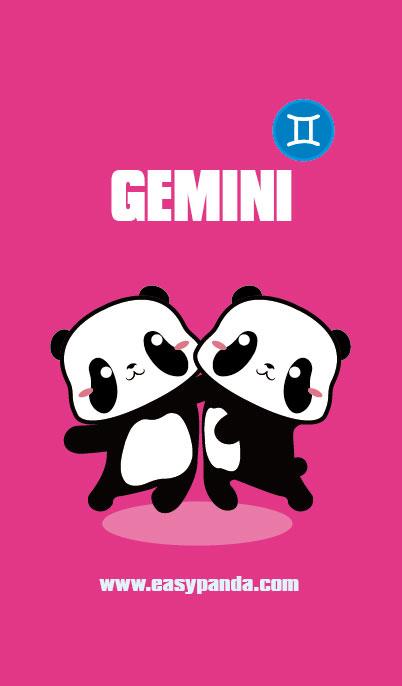憨仔熊猫星座系列手机壁纸|单幅漫画|动漫|sevennes