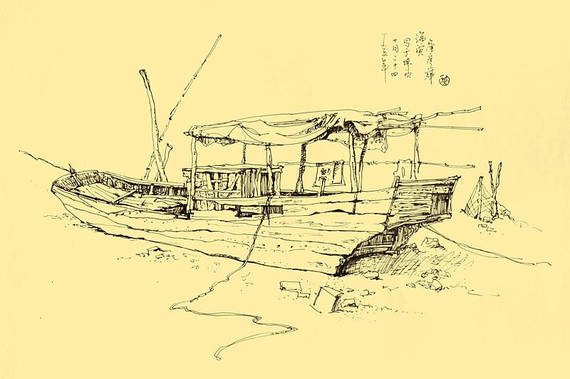 凤凰古城钢笔风景写生作品-詹彦华手绘(04年-08年)