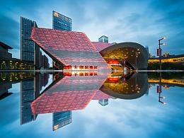 深圳街头广角建筑摄影