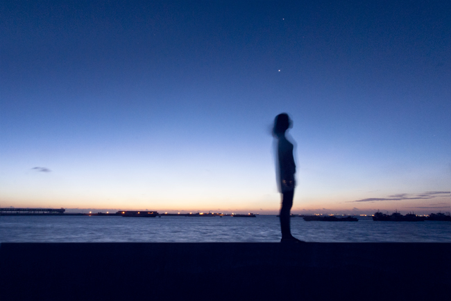 邮轮码头的黎明