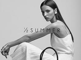 【1/2 summer】半夏服装品牌logo设计