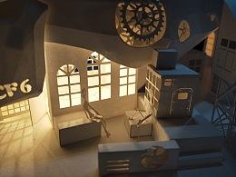 拉普特星球 纸雕模型