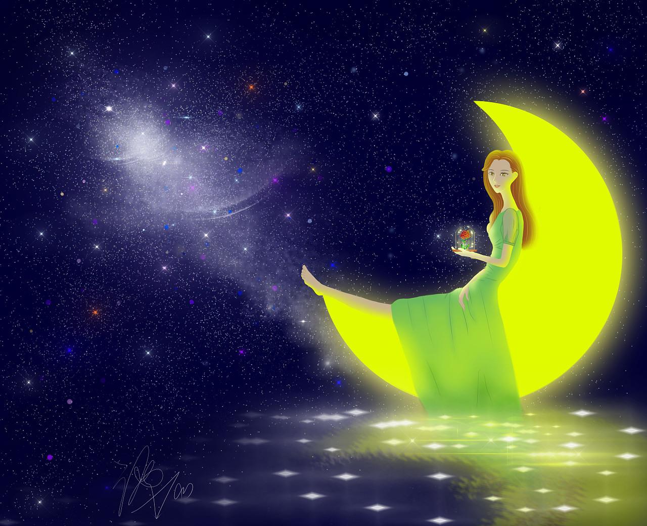 一直向往银河,喜欢明月,愿今夜的你好梦.