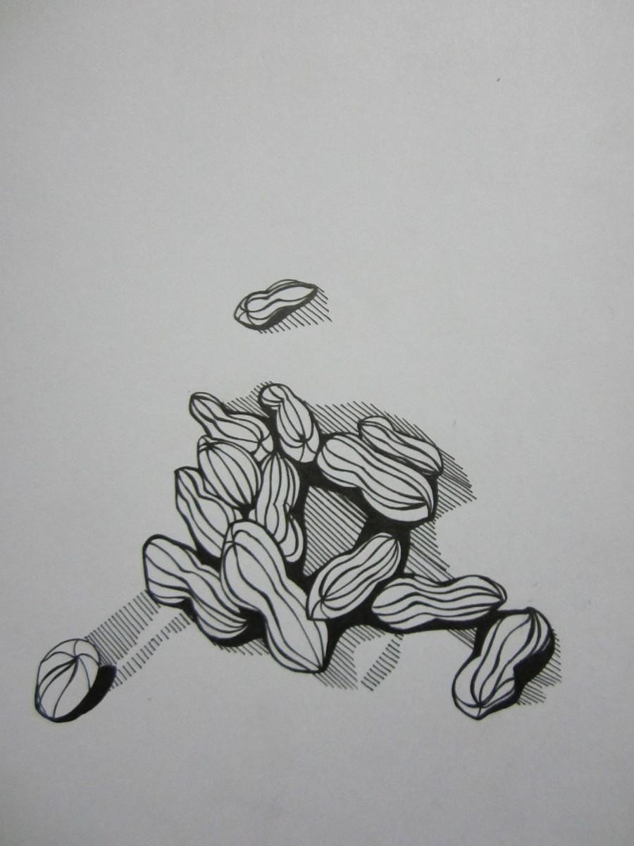 黑白手绘|插画习作|插画|野山坡 9号 - 原创设计作品
