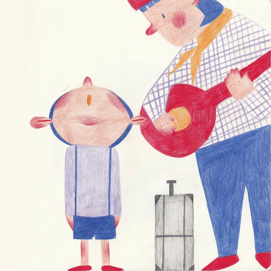《我亲爱的甜橙树》|儿童插画|插画|像只笨拙的