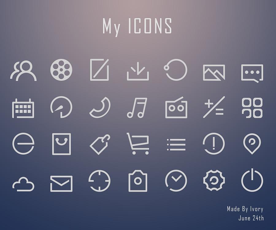 icons 图标 线性 临摹