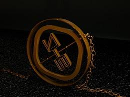 金属项链建模渲染