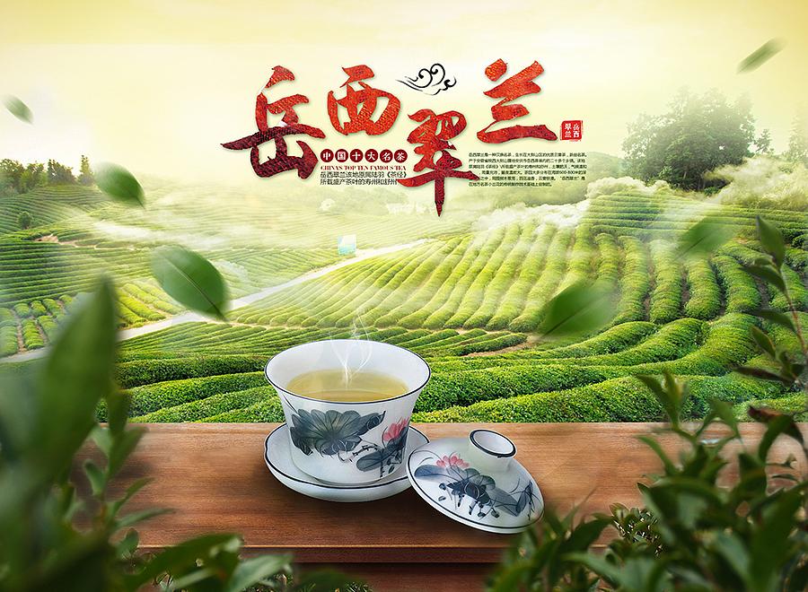 我家乡的岳西翠兰茶叶海报  西湖龙井茶叶  2015新茶上市图片