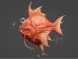 临摹的一枚鲤鱼王