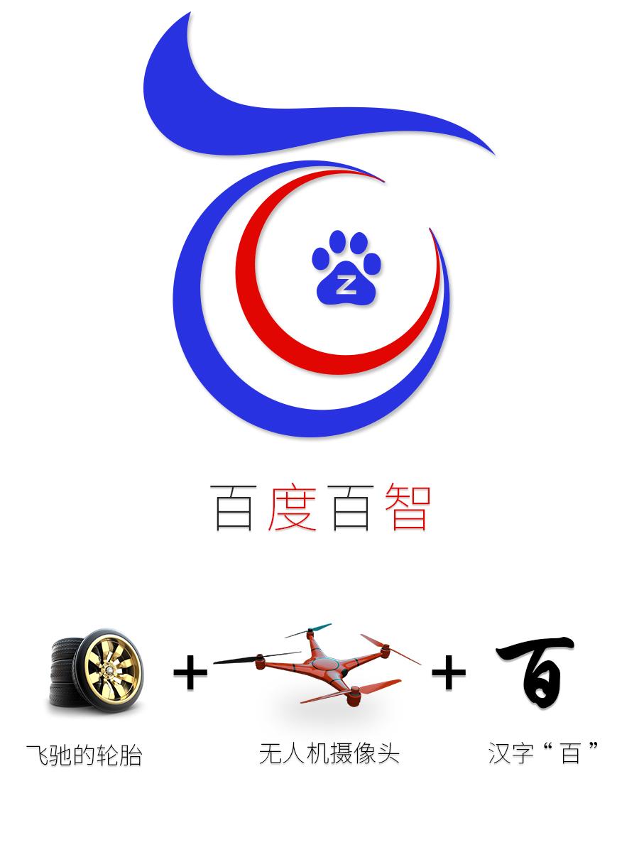 百度百智无人车logo及网页设计图片