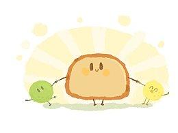 下午茶时间到!要不要来一口小面包!