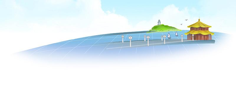 青岛栈桥鼠标绘制|插画|商业插画|jandykeke - 原创