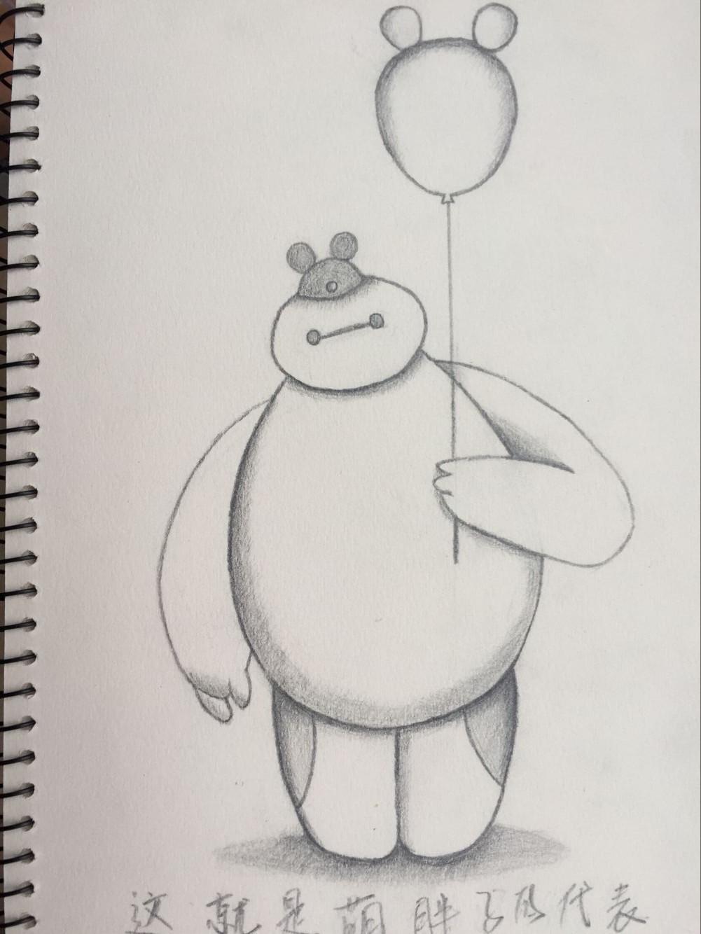 卡通人物线稿素描|插画|商业插画|兔小希 - 原创作品