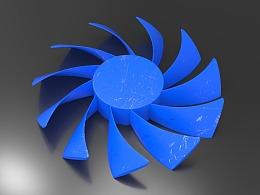 AutoCAD三维曲面扭曲建模CPU风扇建模和渲染