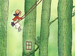森林/河流/天空  ——  插画系列