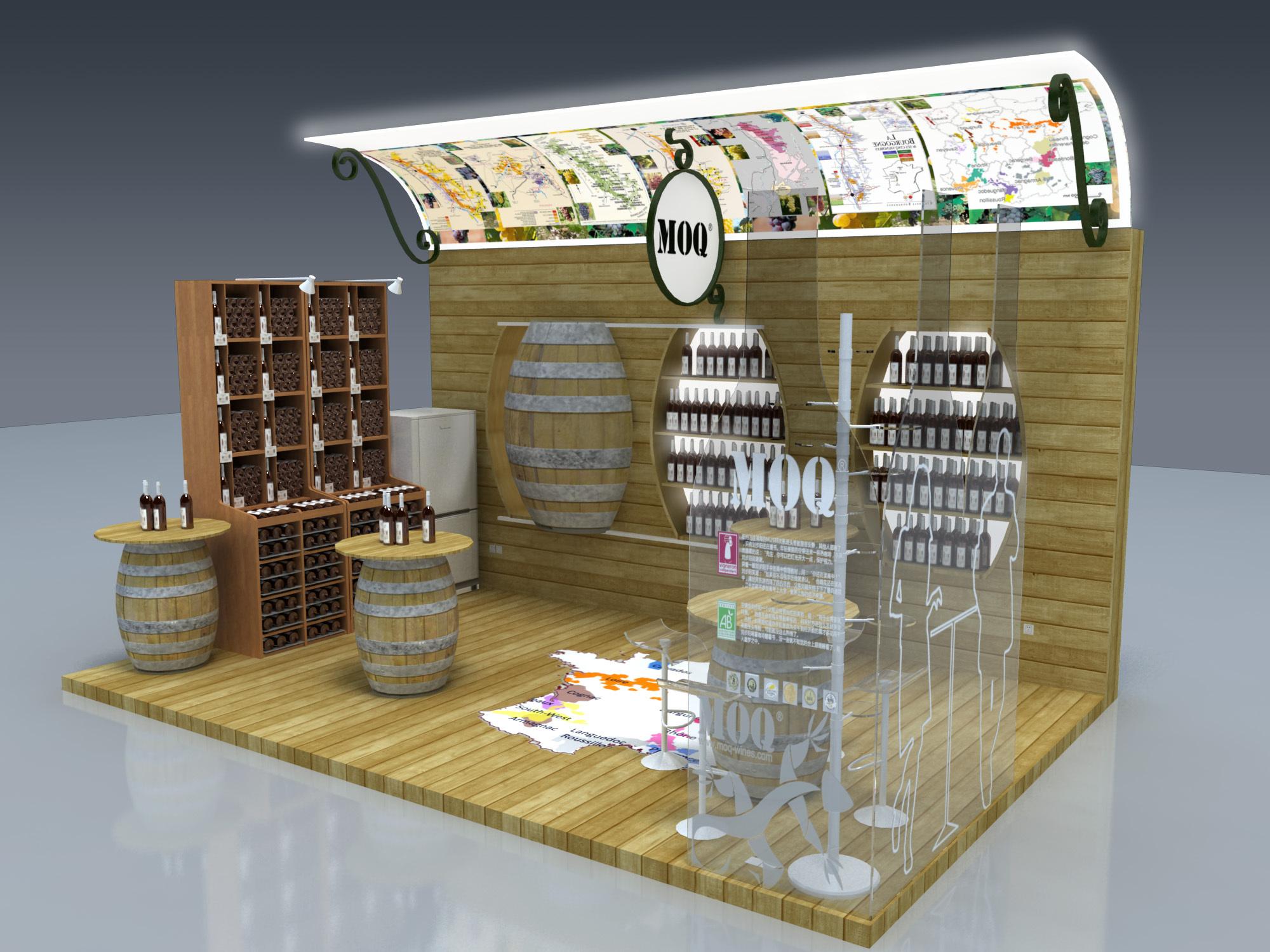 法国红酒展台设计图片