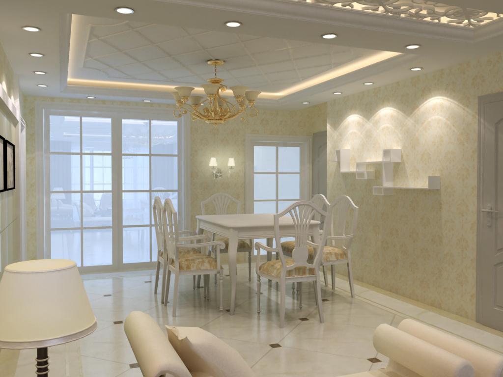 简单的客厅餐厅