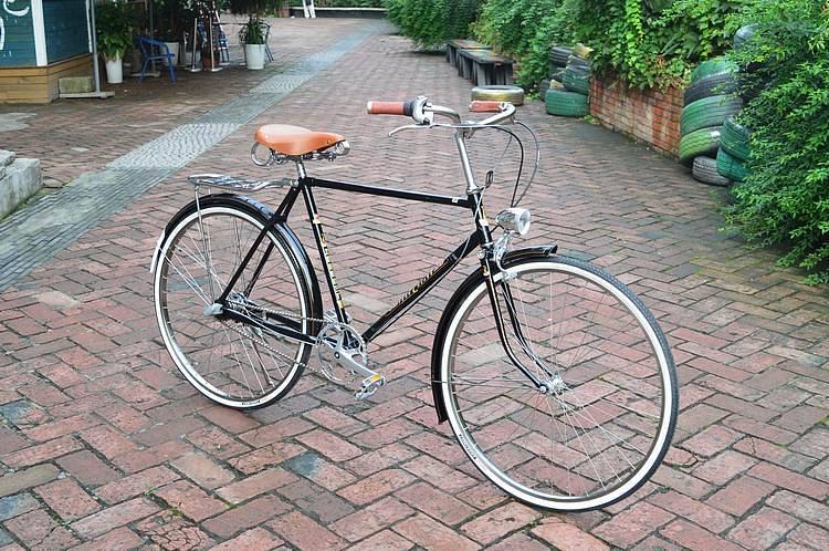 凤凰28寸加重自行车改装内三速复古自行车