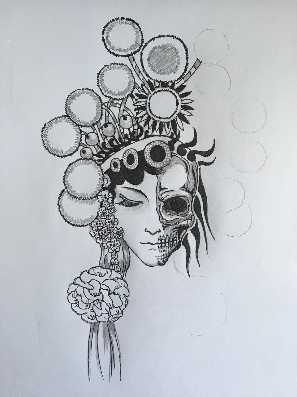 纹身手稿|其他|墙绘/立体画|simpley0213 - 原创作品