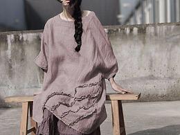 复古文艺棉麻女装设计 宽松版艺术气息