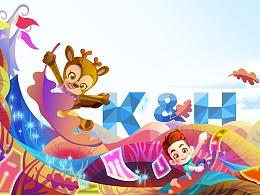 魔法大森林的小伙伴-教育插画及动画角色设定
