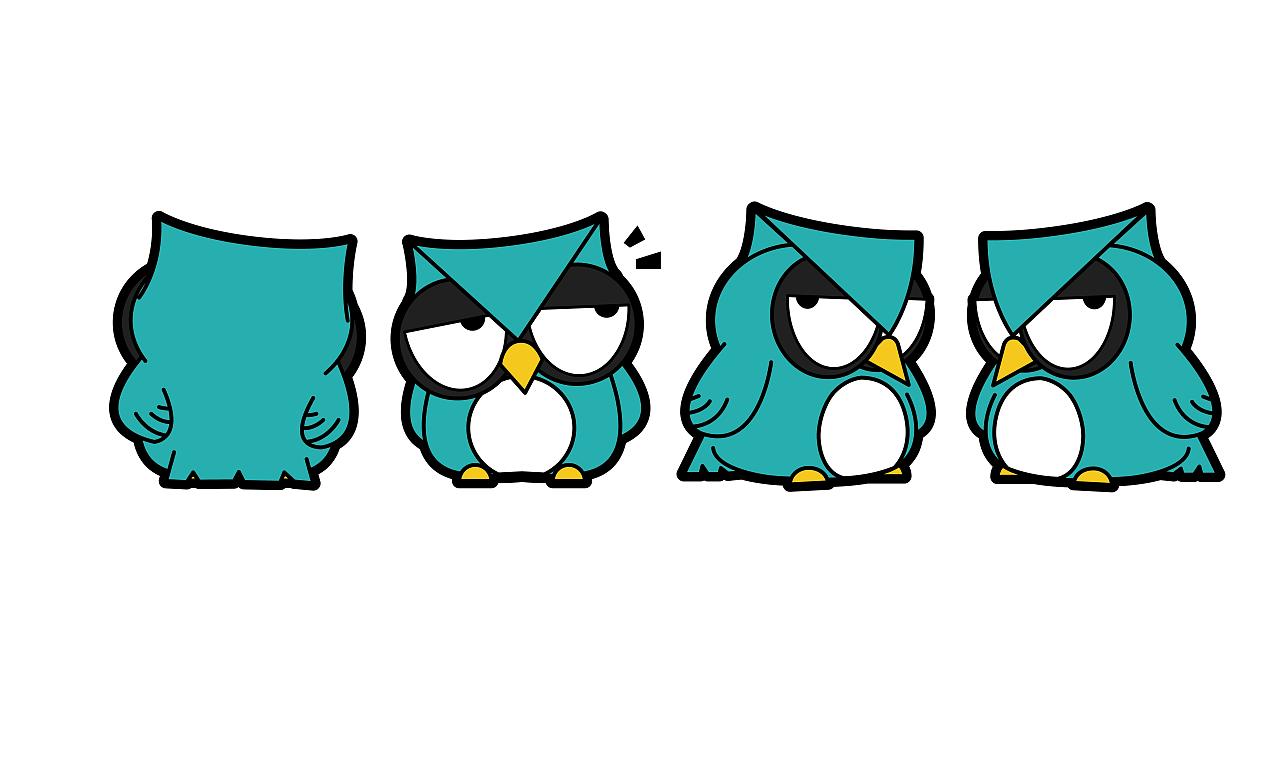 卡通吉祥物形象表情动态设计表情插画集合