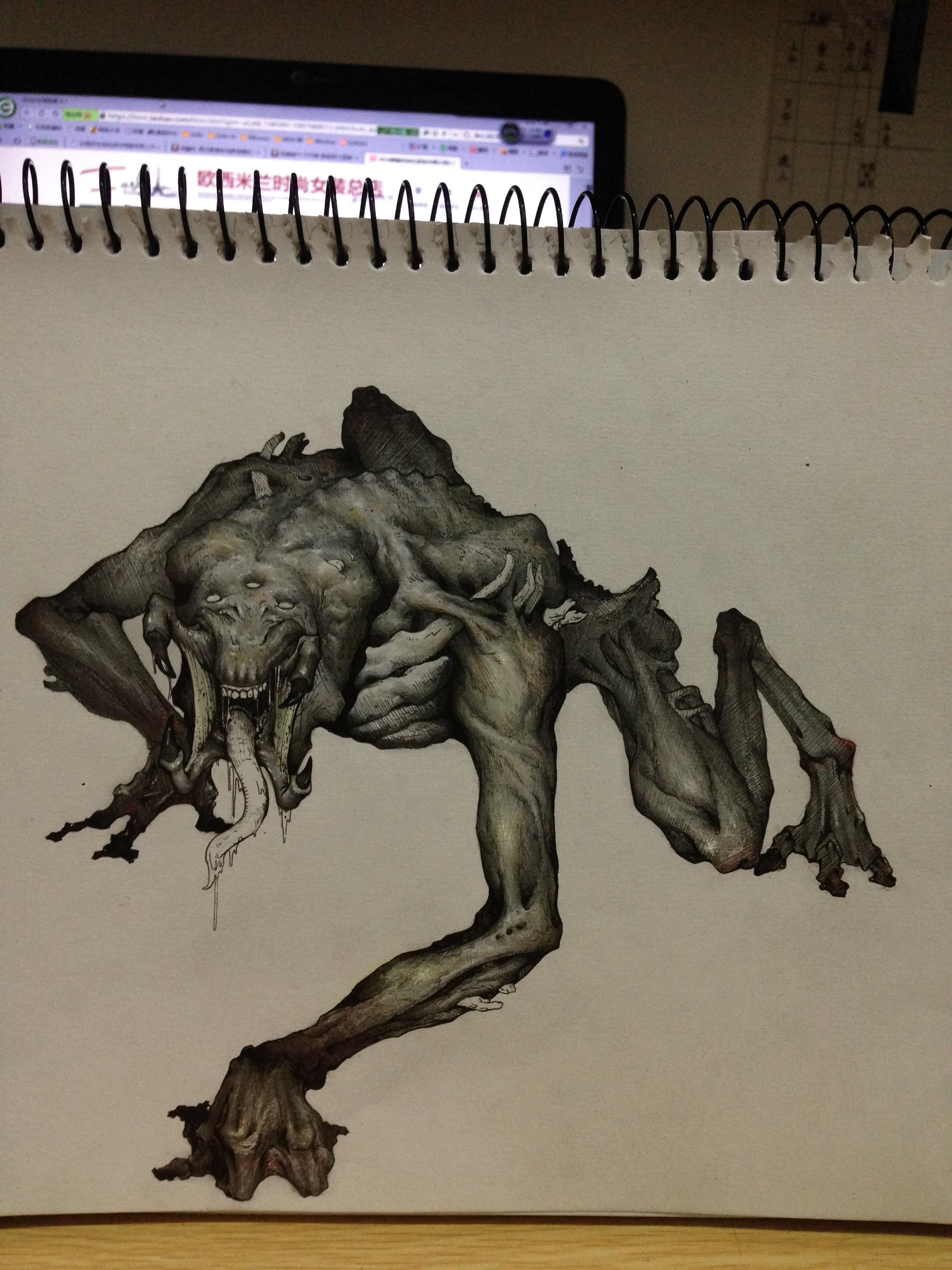 手绘怪物设计,原创