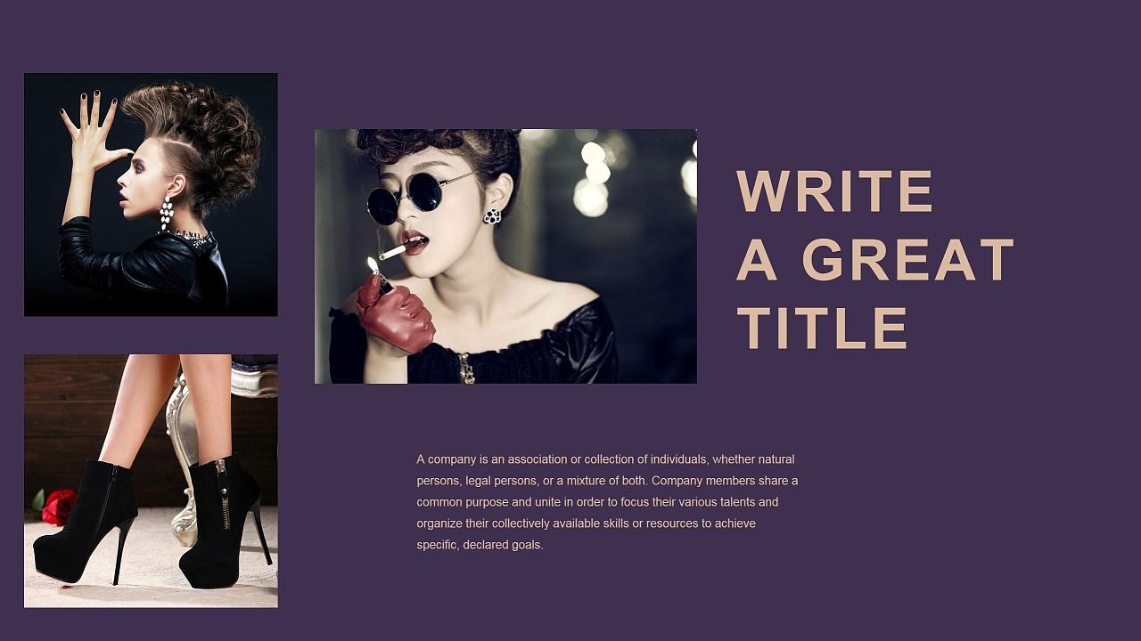 高端精美时尚杂志奢侈品宣传画册ppt模板图片