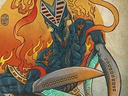 浮世绘大怪兽系列新增四张