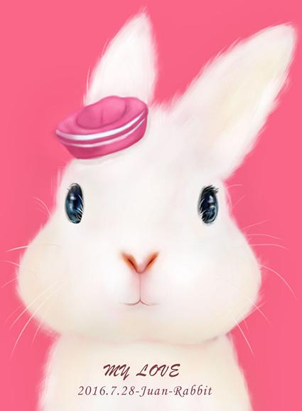 简笔画手绘兔子漫画图片头像 可爱兔子萌图头