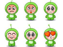 卡通形象设计~绿宝,希望大家可以喜欢