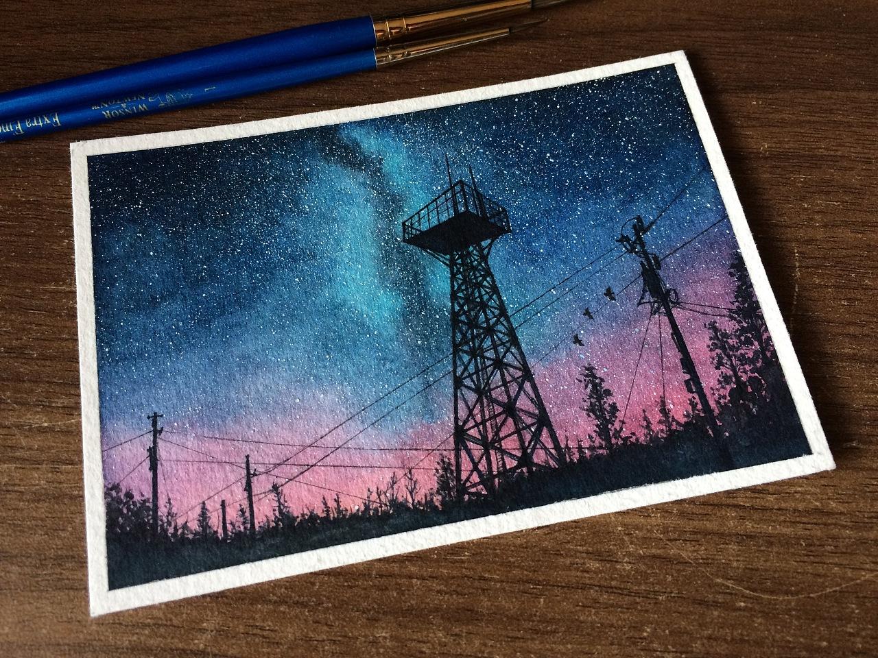每夜星辰 142 电线杆什么的图片