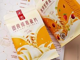 燕麦水果坚果食品固体饮料包装设计
