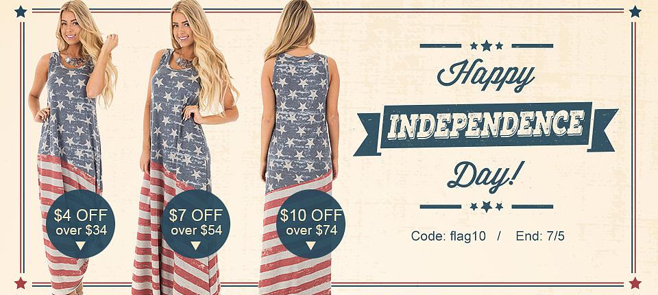 跨境电商女装banner,快时尚英文排版,美国独立