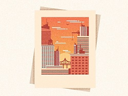Illustrator中创建纹理城市快照图