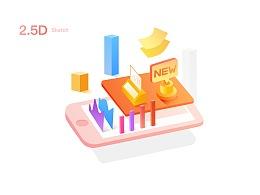 港股资讯APP 2.5D风格