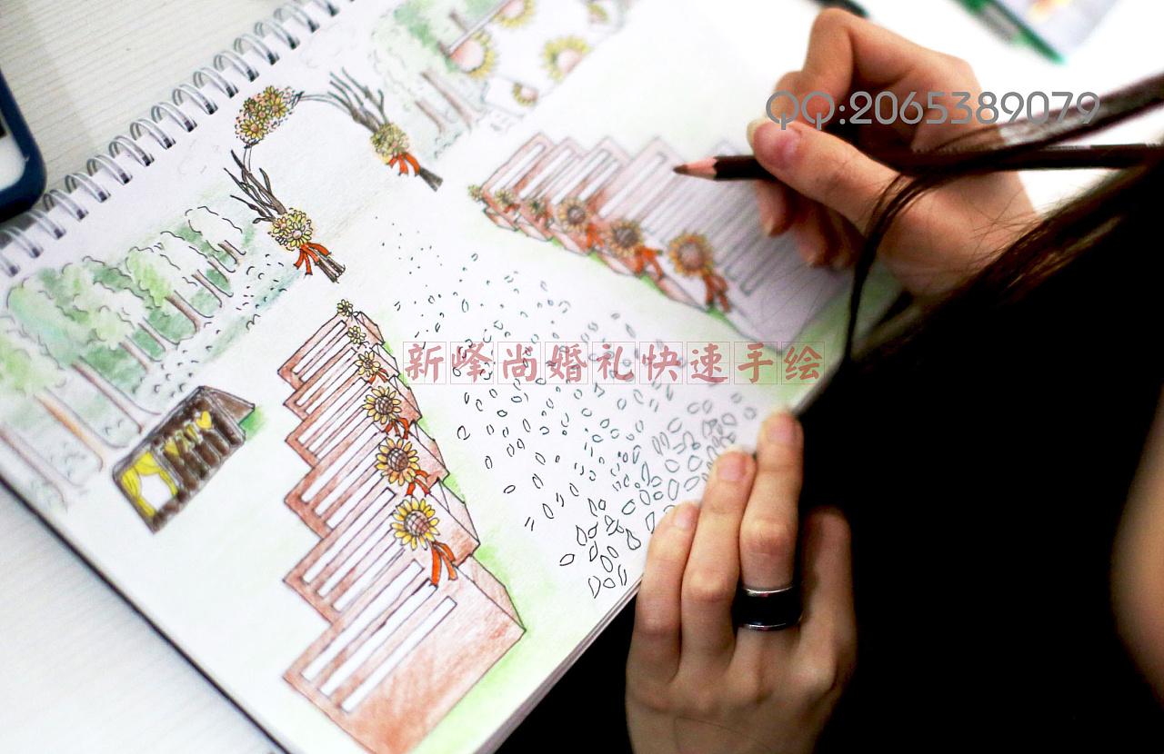 婚礼手绘效果图——婚礼手绘师