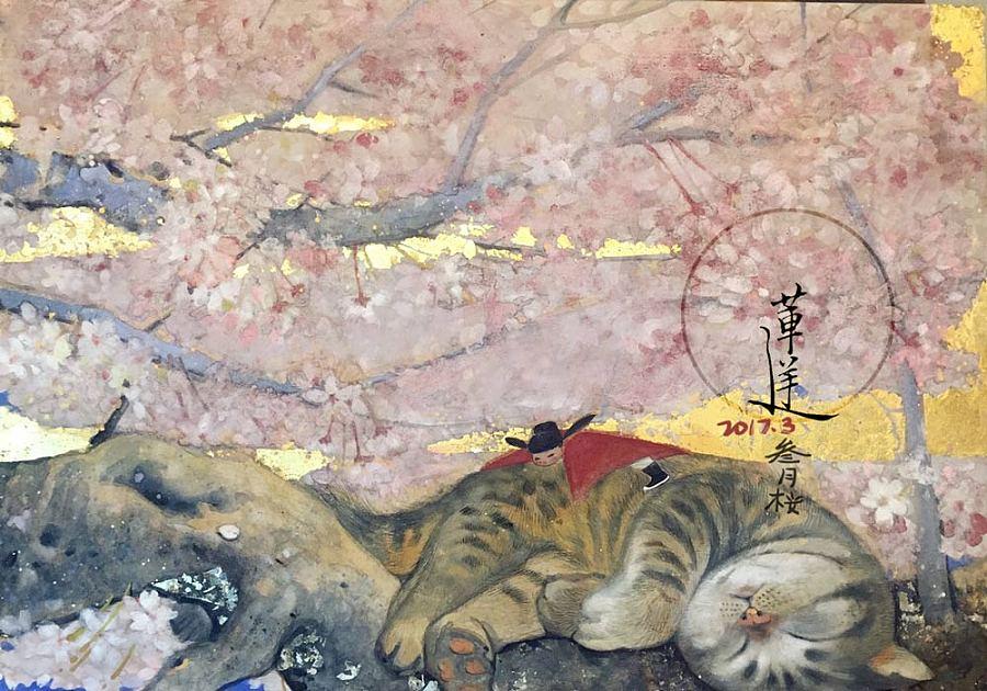 查看《【岩彩】三月樱》原图,原图尺寸:1000x700