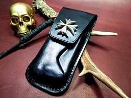 意大利Lion Steel钢狮折刀黑色塑形皮套