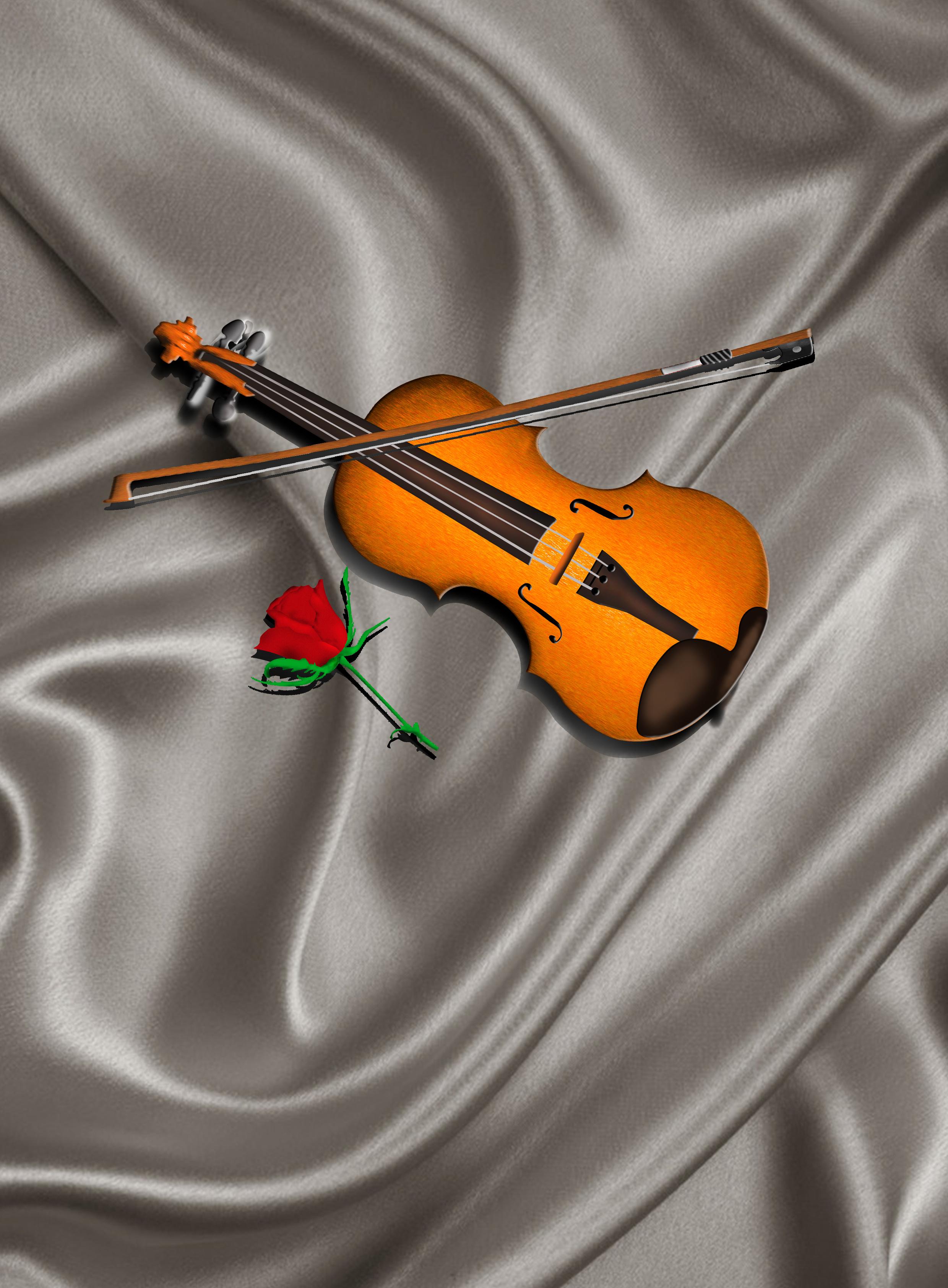 写实 小提琴