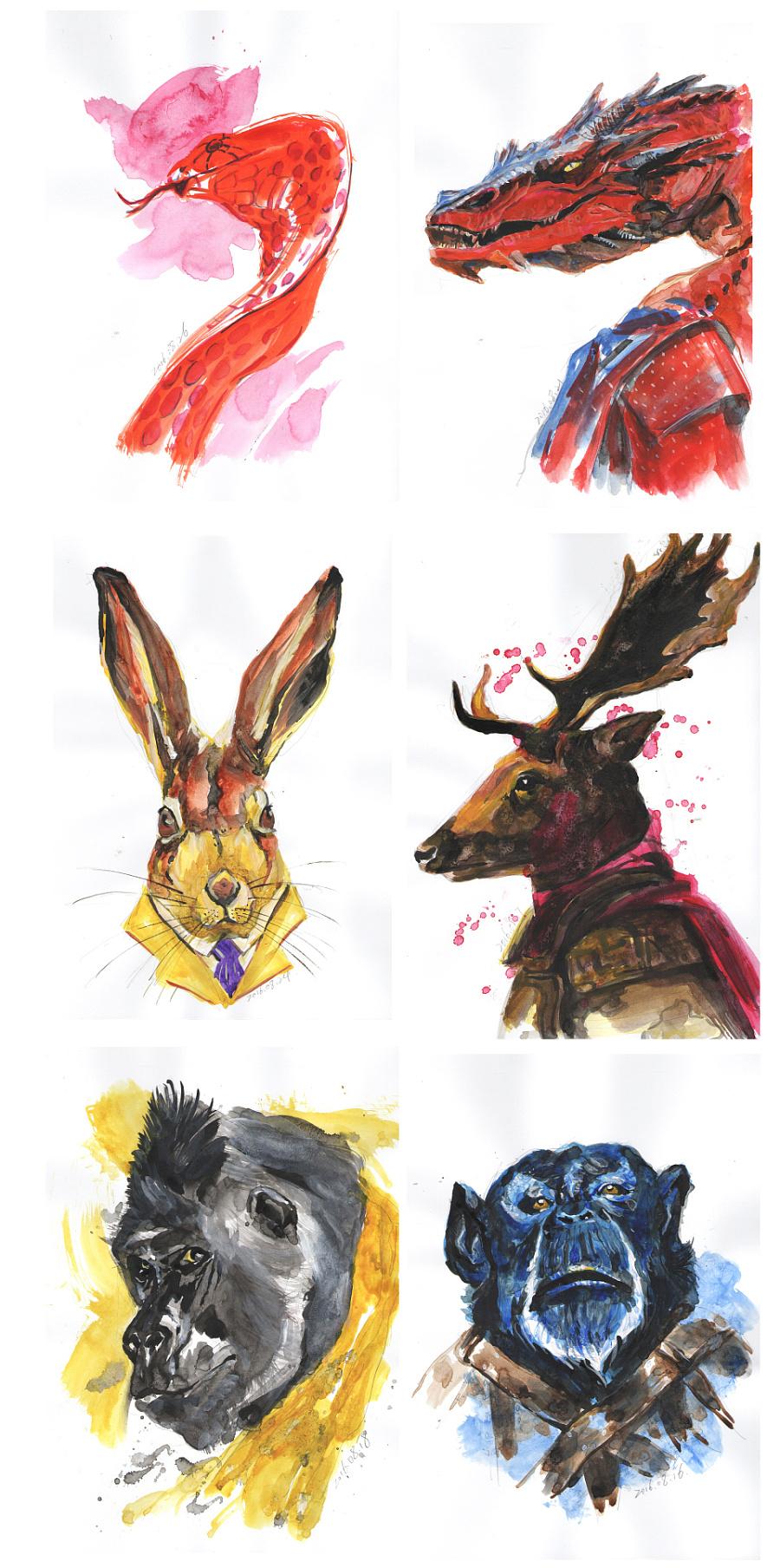 查看《百图斩|拟人化动物形象绘画》原图,原图尺寸:960x1928