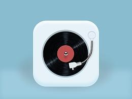 一个为微扁平图播放器icon(临摹)