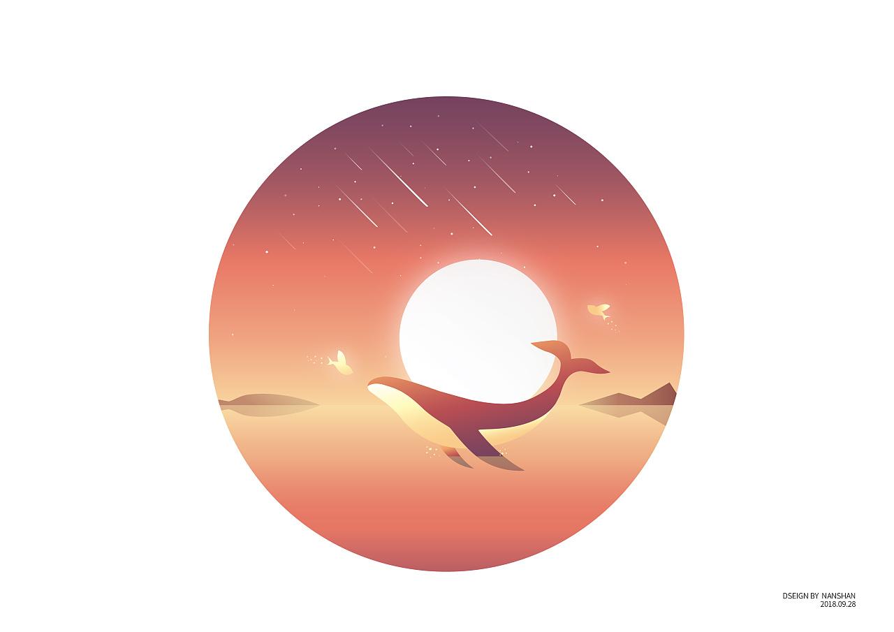 一只化身孤岛的蓝鲸