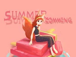 夏天到啦,是时候吃西瓜吃冰咯