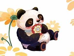 熊猫日常(和纸胶带绘)