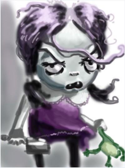 平时在课间,没有手绘板,用鼠标画的小插画.