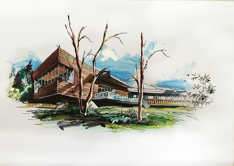 建筑手绘作品集