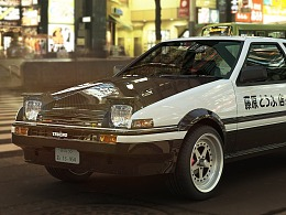 Toyota ae86    Tokyo street render